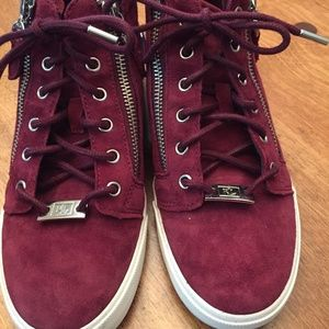 ralph lauren suede high top sneakers size 6